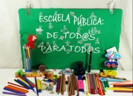 Cartel escuela pública para todos