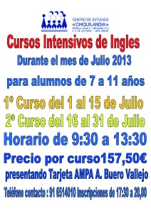 Curso intensivo de Ingles Julio 2013