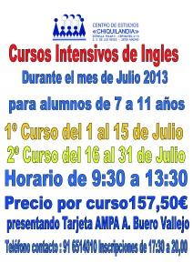 Curso intensivo de Ingles Julio 2013