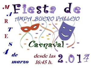 CARTEL FiestaCarnaval 2014 BUERO VALLEJO