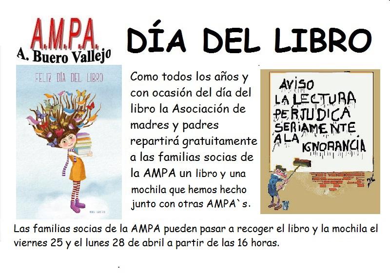 cartel AMPA dia del libro