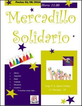 Mercadillo solidario 2014