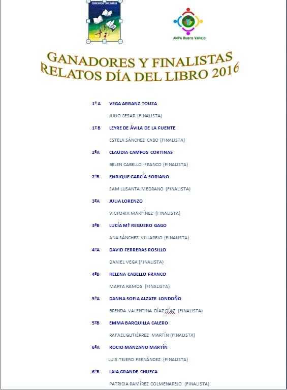 ganadores 2016